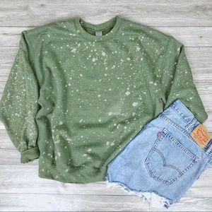 NEW Green Tie dyed Spring Oversized Sweatshirt
